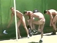 Guys Playing Soccer Naked to Distinguish Themselves