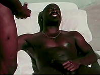 Two black studs destroy each other's assholes outdoors