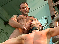 Sam Barclay gets his ass whipped and fucked by Spencer Reed