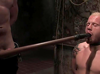 Luke Riley gets his holes fucked hard in BDSM scene with Van Darkholme