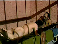 Brunette poofter gets his ass pounded by black dude in a jail