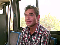 Luke Milan makes gay love with a stranger in a bus