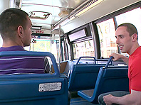 Horny mulatto gets his gay asshole smashed in a bus