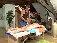 Lewd homos Aslan Brutti and John Mayer fuck doggy style after massage